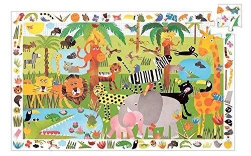Djeco Djeco Puzzle und Suchbild Dschungel Mehrfarbig
