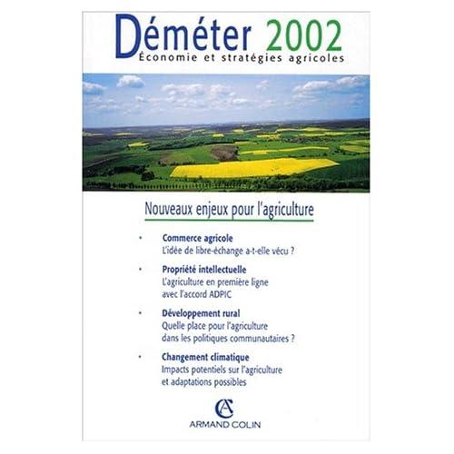 Déméter 2002 : Nouveaux enjeux pour l'agriculture