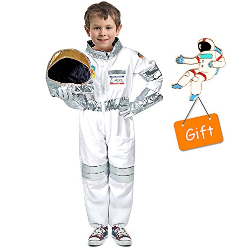 Tacobear Kinder Astronaut Kostüm Anzieh Rollenspiel Set für Kinder Jungen Mädchen mit Pin Badge