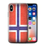 Stuff4 Gel TPU Phone Case/Cover for Apple iPhone X/10 / Norway/Norwegian Design/European Flag Collection