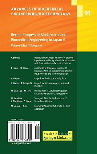 Recent Progress of Biochemical and Biomedical Engineering in Japan II (Advances in Biochemical Engineering/Biotechnology)