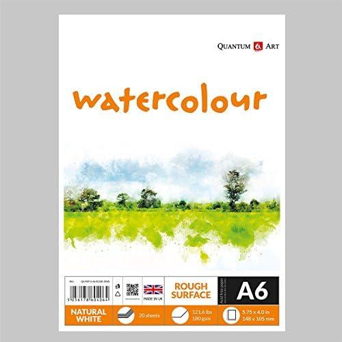 A6 rugueux pour aquarelle Dessin Artiste papier papier papier gommé livre – 180 g/m² B07C8N5MY6 | Des Produits De Qualité,2019 New  586ce2