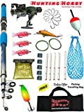 #7: Fishing Spinning Rod,Reel,Accessories Complete Kit (8 Feet)