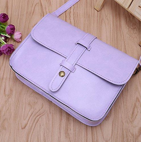 Dairyshop Borsa della spalla della signora delle donne sacchetti del messaggero CrossbodySatchel della borsa di Tote (Viola) Viola
