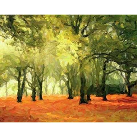 CRIMSON FOREST FLOOR, Taylor by Greene-Stampa su tela in carta
