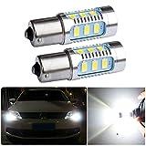FEZZ Auto LED Birnen S25 BA15S 1156 5630 15SMD 7.5W CANBUS DRL Tagfahrleuchten Tagfahrlicht für Audi Seat Volkswagen Skoda Renault