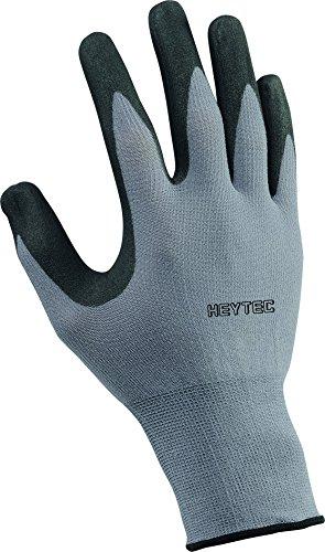 Heytec 50817330800 Gants de travail, Noir/gris, Taille 8