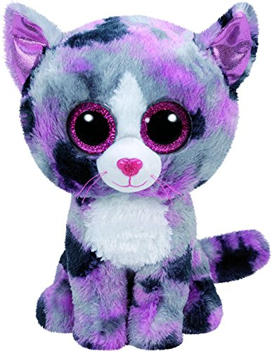 TY - Beanie Boos Lindi, gato, 15 cm, color gris / rosa (United Labels