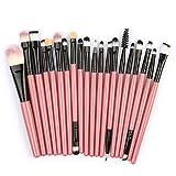 Cebbay Pinceaux Maquillage Cosmétique Professionnel Set de pinceaux en Laine 20pcs Set/Kit Cosmétique Brush Beauté Maquillage Brosse Makeup Brushes Cosmétique Fondation
