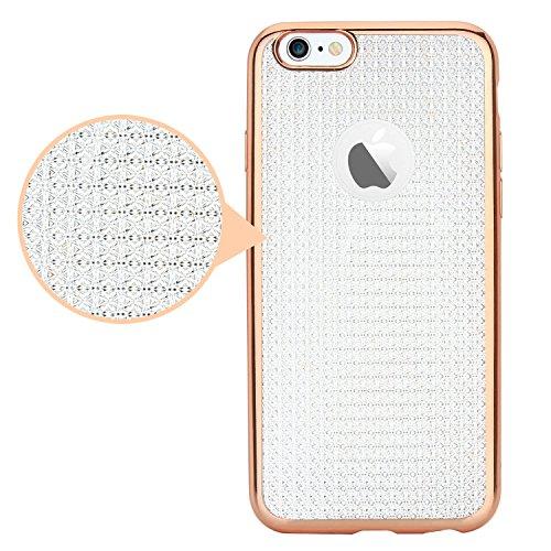 """iPhone 6 Hülle iPhone 6S Hülle, EnGive Silikon Schutz Handy Hülle Crystal Gehäuserückseite Sparkles Bumper Case Tasche Etui Schutzhülle für iPhone 6 6S (4.7 """") (Bumper_Grau) Bumper_Crystal"""