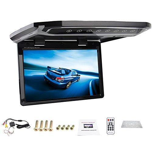 12,1-Zoll-HD USB SD HDMI FM Auto-1080P Auto Deckenmonitor/Flip unten / ¨¹ber Kopf/Auto Decke Wide/Drop-Down-LCD-Monitor-Anzeige -