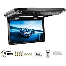 Nueva 12.1 pulgadas de alta definici¨®n HDMI USB SD FM del coche 1080P del coche de montaje en techo monitor / Voltear hacia abajo / encima de la cabeza / del techo del coche ancha / gota abajo Monitor LCD