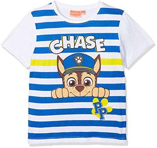 Paw patrol er1393 t-shirt bambino, bianco taglia produttore:5 anni