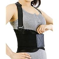 Faja para la espalda con tirantes, apoyo lumbar, cinturón de culturismo/halterofilia - Marca Neotech Care (Talla XXL)