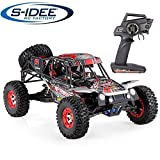 s-idee® 18113 S12428C RC Auto Buggy Monstertruck 1:12 mit 2,4 GHz 50 km/h schnell, wendig, voll digital proportional 4x4 Allrad WL Toys ferngesteuertes Buggy Racing RC Auto