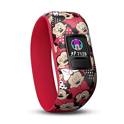Garmin Vívofit Jr. 2 - Monitor de actividad para niños, con diseño Minnie Mouse, color rojo, 4 y 7 años