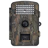 Blupow 12 MP 1080P HD Jagd Kamera mit 120 ° Weitwinkel Trophy Cam Wasserdicht, IR-LED Trail Camera Digital Wildlife Kamera