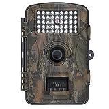 Blupow 12MP 1080P HD Jagd Kamera mit 120° Weitwinkel Trophy Cam Wasserdicht, IR-LED Trail Camera Digital Wildlife Kamera