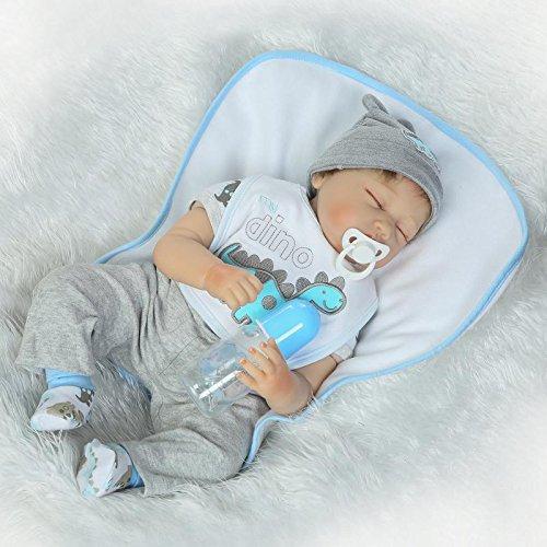 HOOMAI 22inch 55cm muñecas Reborn Bebe Niños Silicona Vinilo Reales Baby Doll Boy Magnetismo Juguetes Chicos