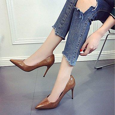 RTRY Donna Luce Tacchi Suole Estate Autunno Pu Abbigliamento Casual Stiletto Heel Borgogna Kaki Green Nero 2A-2 3/4In US5.5 / EU36 / UK3.5 / CN35