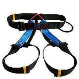 Klettergurt Sitzgurt Sicherheitsgurt für Bergsteigen Skibergsteigen Rock Trekking Fallschutz, Steigschutz; Hochwertig, Sichheitsgarantie - Blau