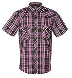 Rock-It Kariertes Herren Hemd Kurzarm Worker Hemd Worker Shirt Freizeithemd Arbeitshemd Made in Europa Größen S-5XL Farbe Schwarz 4X-Large