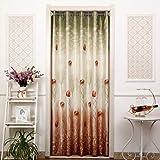 BGAOYUHUA Elegante Weiche Leinen Tür Vorhänge Blackout Tür Vorhang für Privatsphäre, Restaurant Cafe Einzelne Panel Vorhänge, Licht Filterung Vorhang Panel,A2_120*190cm