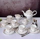 38°C Youth CC Teeservice Tragbare Reise Kungfu Tee Set Handgemachte Chinesische Vintage, Porzellan-Teekanne und 4 Schüsseln & Bamboo Teetablett & Aufbewahrungstasche