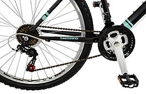 Falcon Women's Vienne Hard Tail Mountain Bike - Black/Teal, 12 Years