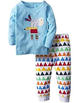 BIG ELEPHANT Baby Jungen'2 Stück Grafik Langarm Hose Bekleidung Set Blau H72
