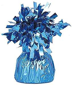 Unique Party- Peso del globo, Color azul medio (4945)