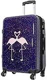 1 Koffer Hartschale Größe M Design Flamingo Material Polycarbonat Trendyshop365