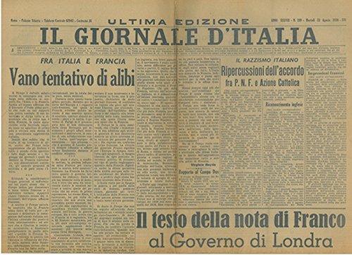 Il razzismo italiano. Ripercussioni dell'Accordo fra PNF e Azione Cattolica.
