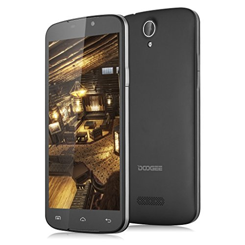 Doogee X6 Pro 4G Smartphone 5.5 '' Android 5.1 Lollipop MT6735 Quad Core 1.0GHz 2GB di RAM 16GB ROM Astuta Sveglia Aria Gesti OTA GPS WIFI (Nero)