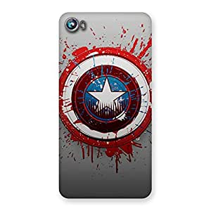 Special Blood Red Round Back Case Cover for Micromax Canvas Fire 4 A107
