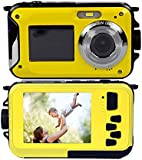 PowerLead Gapo G050 Double Screens Waterproof Digital Camera 2.7-Inch Front LCD with 2.7-Inch Camera Easy Self Shot Camera