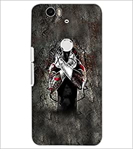 PrintDhaba Cross D-5595 Back Case Cover for HUAWEI NEXUS 6P (Multi-Coloured)