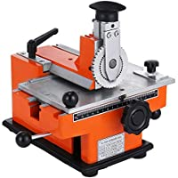 InLoveArts Semi-Automatic Sheet Embosser Nameplate 2~4 Characters per Second Metal Embosser Working Plate Embossing Label Maker Machine with 4mm Aluminum Plate Metal Tag Plate Dog Tag Printer