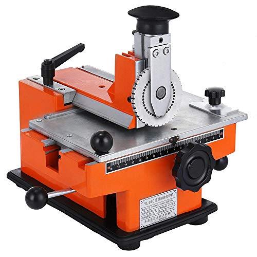 InLoveArts Halbautomatisches Blatt Embosser Typenschild 2~4 Zeichen pro Sekunde Metall Embosser Arbeitsplatte Präge Label Maker Maschine mit 4mm Aluminiumplatte Metall Tag Plate Dog Tag Drucker -