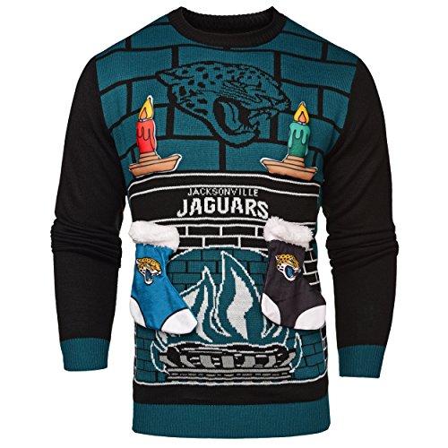 NFL, häßlicher 3D-Weihnachts-Pullover, Unisex, SWTCNNF3D, grün, XXL ()
