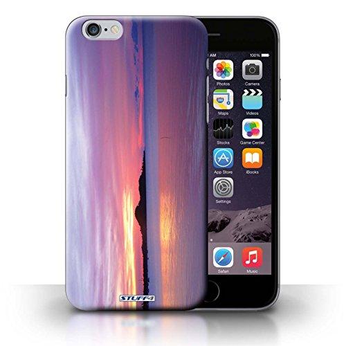 Kobalt® Imprimé Etui / Coque pour iPhone 6+/Plus 5.5 / bateaux conception / Série Coucher du Soleil Bleu de la mer