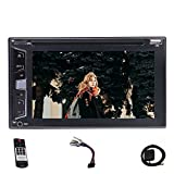 6.2 inch Double 2 Din Wince 8.0 GPS Car Head units Bluetooth Autoradio in Dash GPS Navigation Stereo with DVD/CD/MP3/MP4/USB/SD/AM FM RDS/Bluetooth/Five Touch Capacitive Screen + 8GB Map Card + Wireless Camera