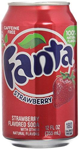 Fanta Refresco con Gas, Sabor Fresa - Paquete de 12 x 355 ml - Total: 4260 ml