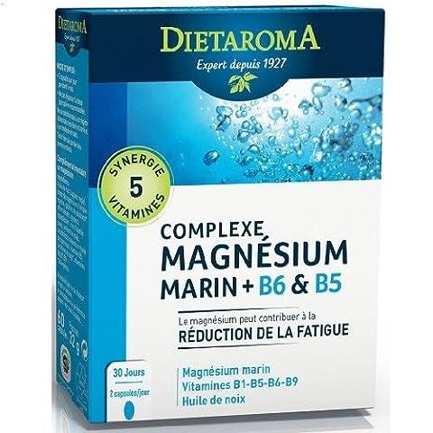 Dietaroma - Complexe magnesium cure 1 mois - 60 capsules molles - L'équilibre nerveux et neuro-muscu