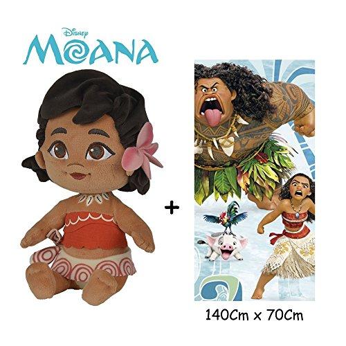 Disney - Vaiana - Set de Peluche Vaiana Bebé 25 cm(Famosa...