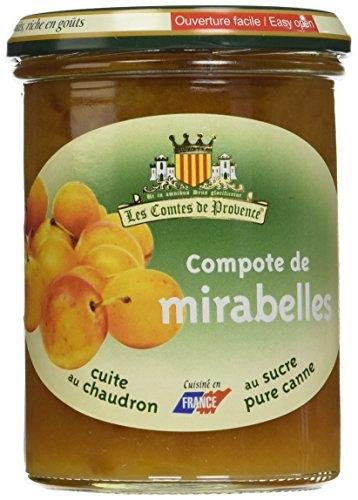 Les Comtes de Provence Compote de Mirabelle 420 g - Lot de 3