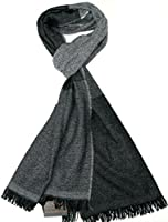 Lovarzi Men's Wool Scarf - Luxurious Striped Winter Scarves for Men - Made in Italy