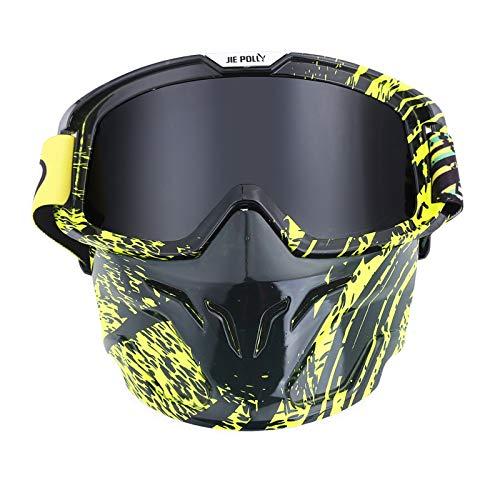 Sport Brille Klar Motocross Spiegel Spiegel Retro Schutzbrillen Maskenbrillen Helm Winddichte Brillen Gray A05 Damen Herren