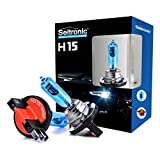 Seitronic 2x H15 55W Xenon Style Lampen Halogen-Scheinwerferlampe, Xenon Look Lampen Weiss, Xenon Style Birnen Brenner, Xenon Blue HID Lampen - Halogen Xenon Lampen