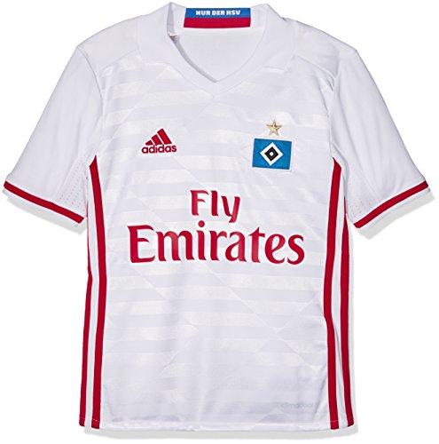 adidas Kinder Hamburger SV Replica Trikot, White/Scarlet, 164